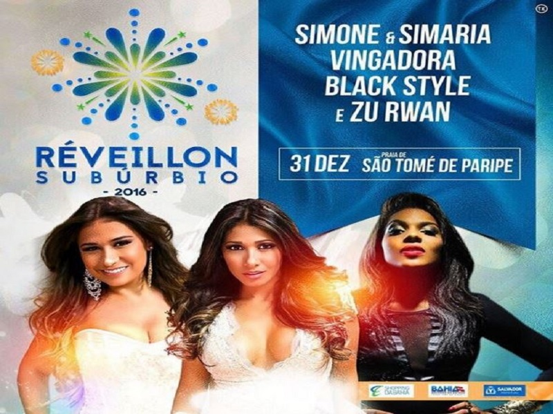 Réveillon do Subúrbio terá shows de Simone e Simara e Black Style